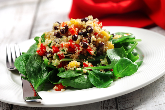 Quinoa, Black Bean and Mango Salad