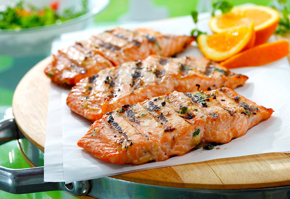 Asian Orange Soy Marinated Salmon