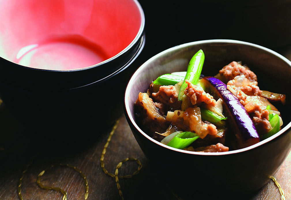 Eggplant in Spicy Garlic Sauce