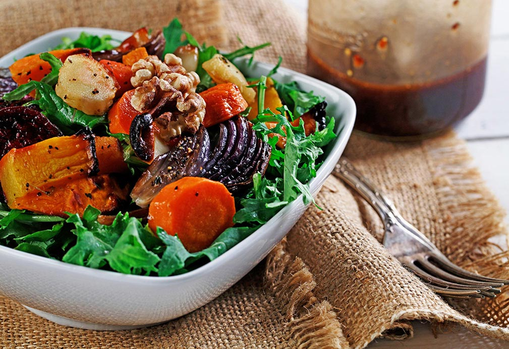 Roasted Root Vegetable and Winter Squash Salad