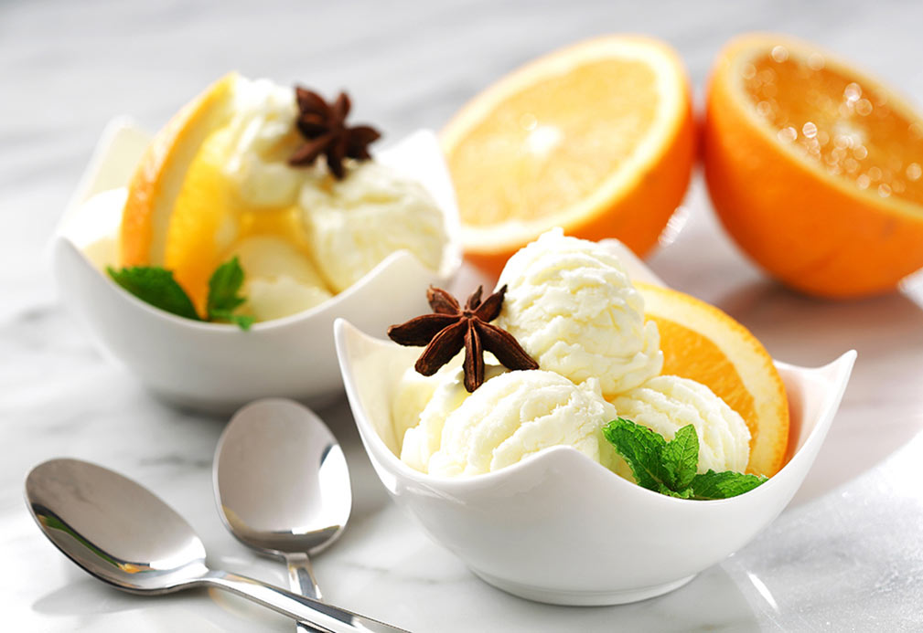Star Anise and Orange Infused Canola Ice Cream