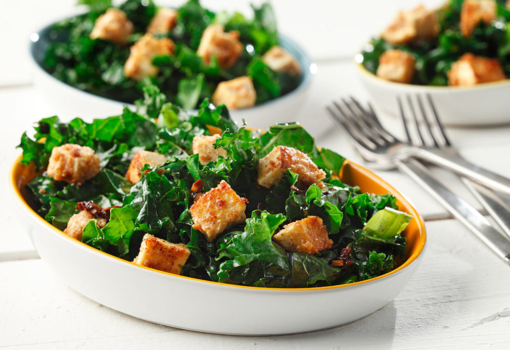 Tofu Nuggets with Kale