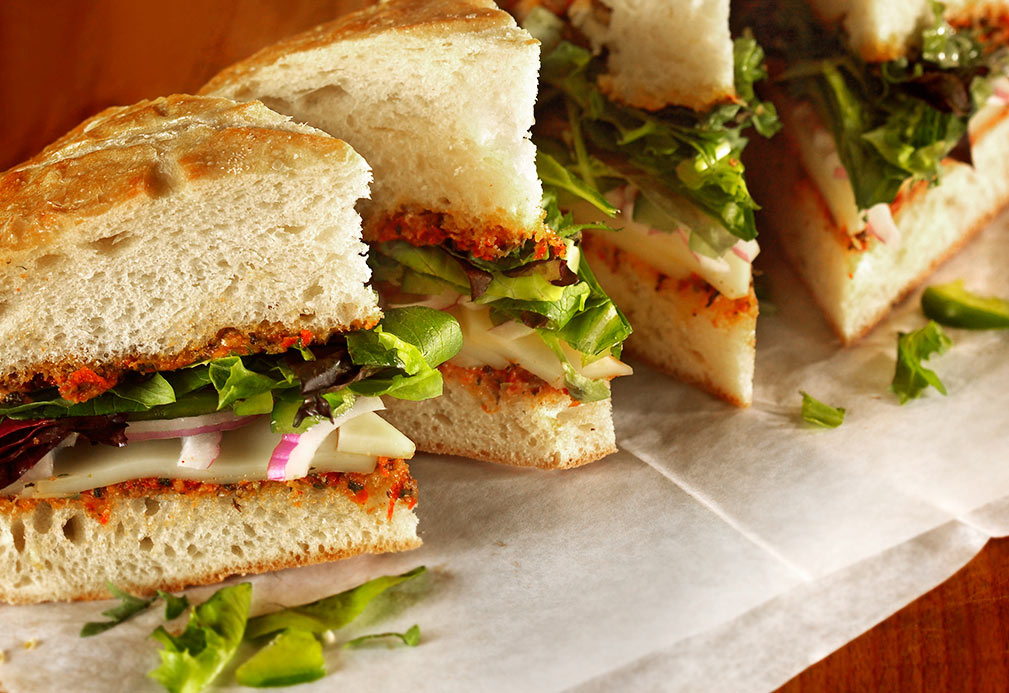 Vegetarian Sandwich with Sun Dried Tomato Spread