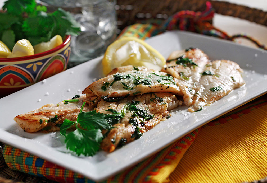 White Fish in Citrus Cilantro Marinade