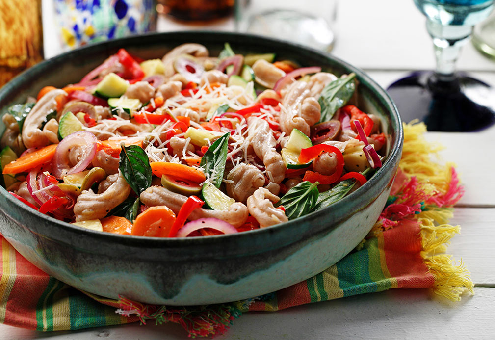 Whole Wheat Fusilli with Sautéed Vegetables