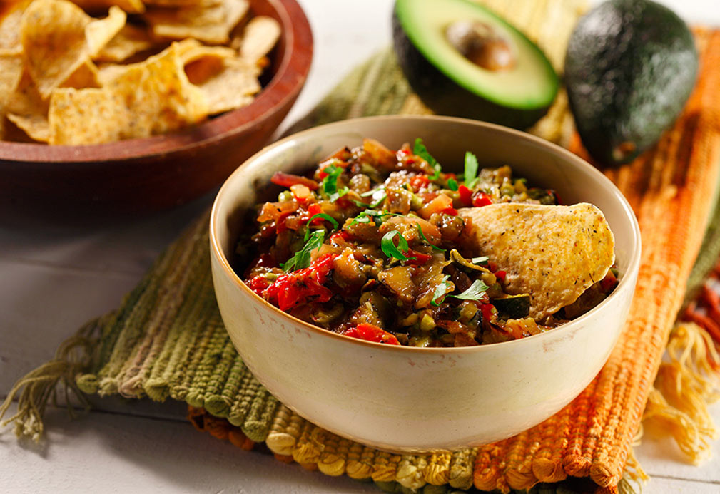 Chunky Grilled Vegetable Guacamole