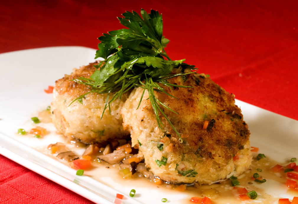 Crab Cakes with Warm Black Truffle Vinaigrette