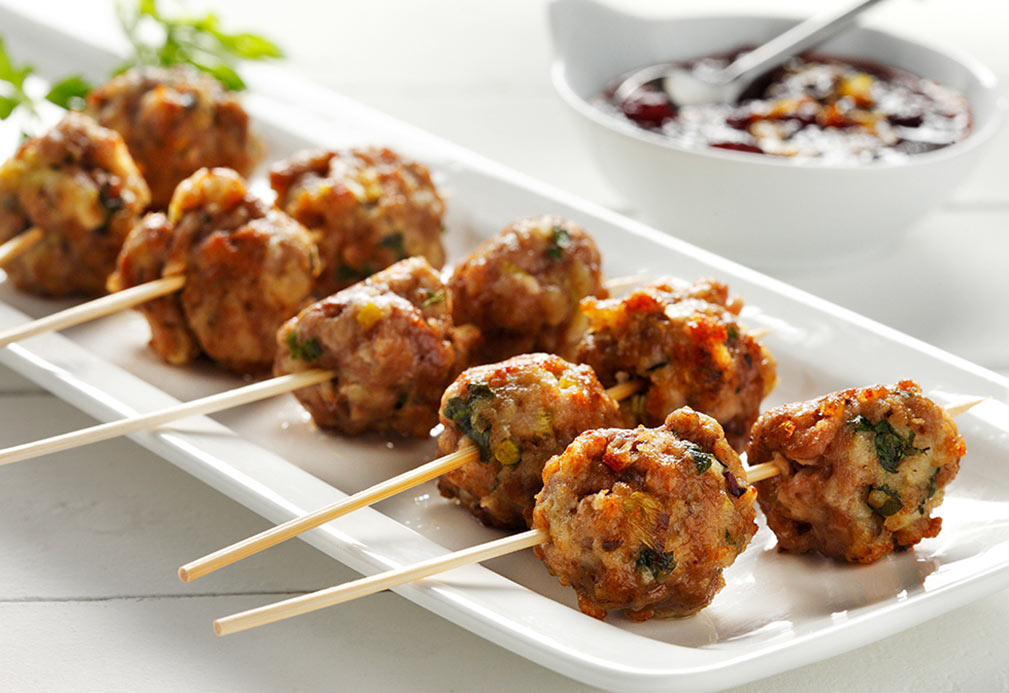 Meatballs With Orange Cranberry Glaze