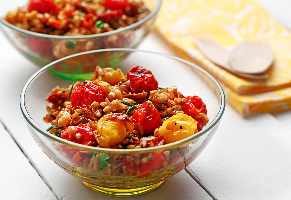 Roasted Tomato and Farro Side Dish