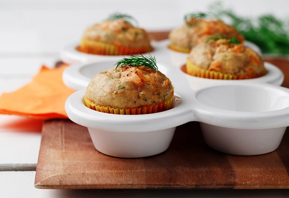 Salmon and Dill Pancake Muffins