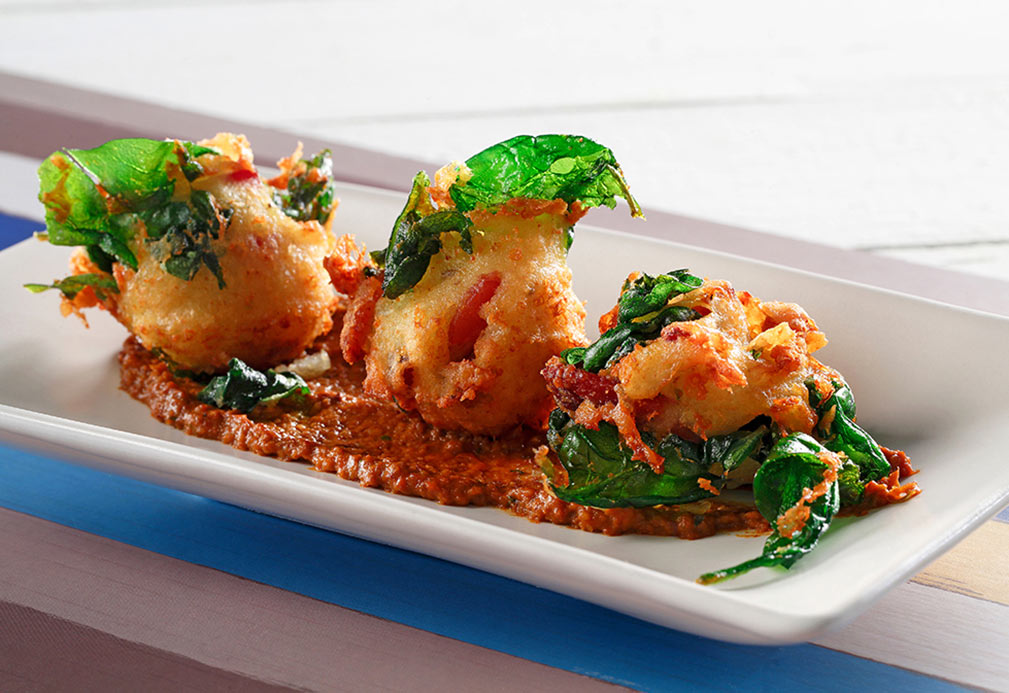 Savory Spinach Bacon Ricotta Fritters