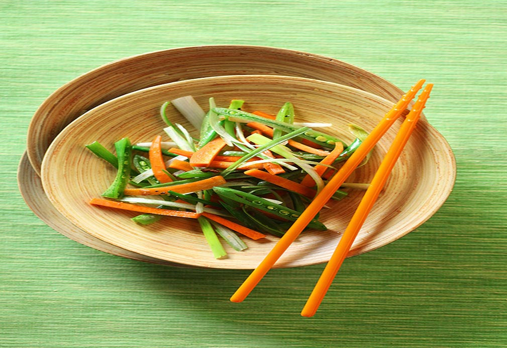 Shredded Sugar Snap Pea and Carrot Stir-Fry