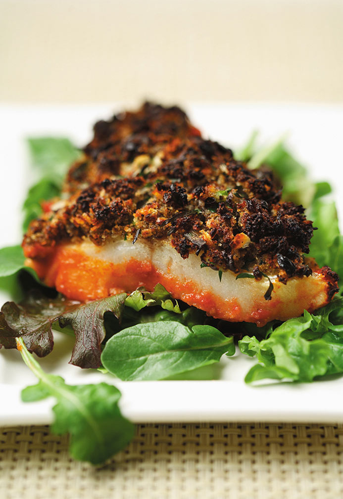 White Fish with Herb Duxelles