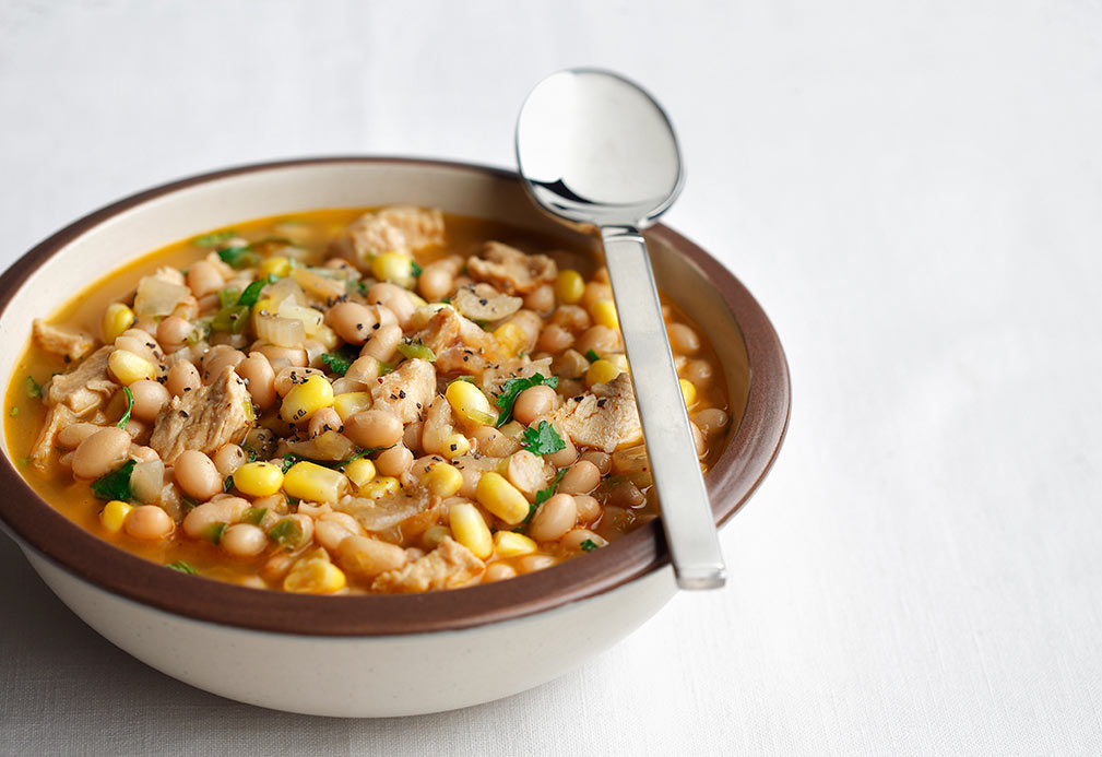 Zesty White Bean and Turkey Chili