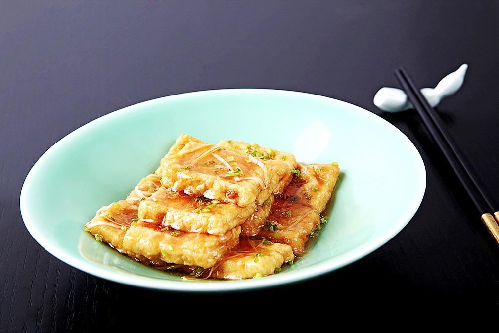 芥花油炸金黄锅塌豆腐