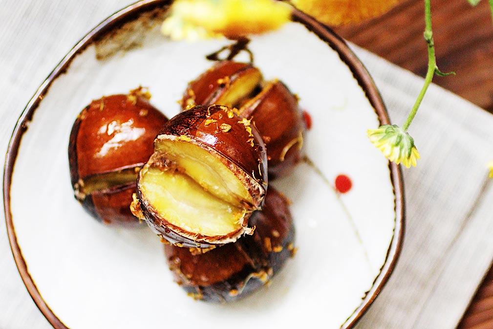 加拿大芥花油蜂蜜桂花烤栗子