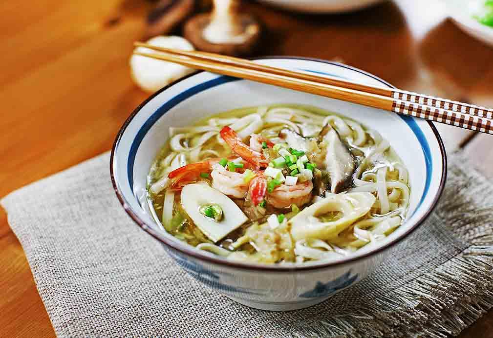 芥花油三鲜汤面=山的味道+海的味道