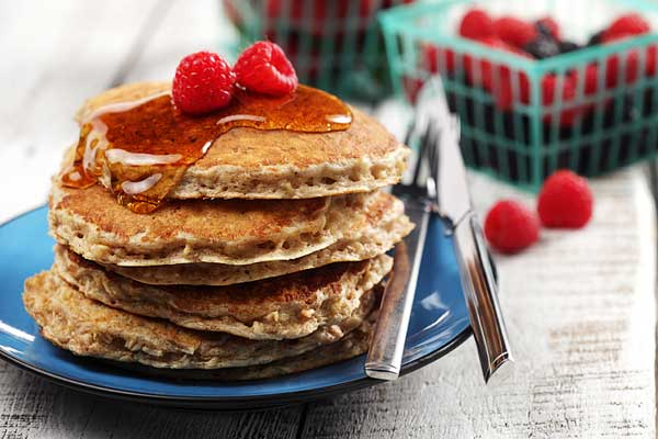cinnamon oatmeal pancakes made with canola oil breakfasts