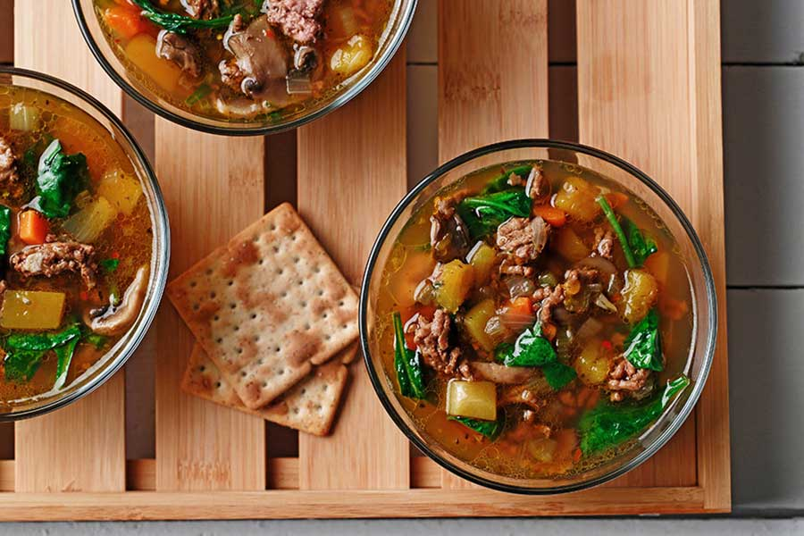 hearty fall soups beef mushroom made with canola oil