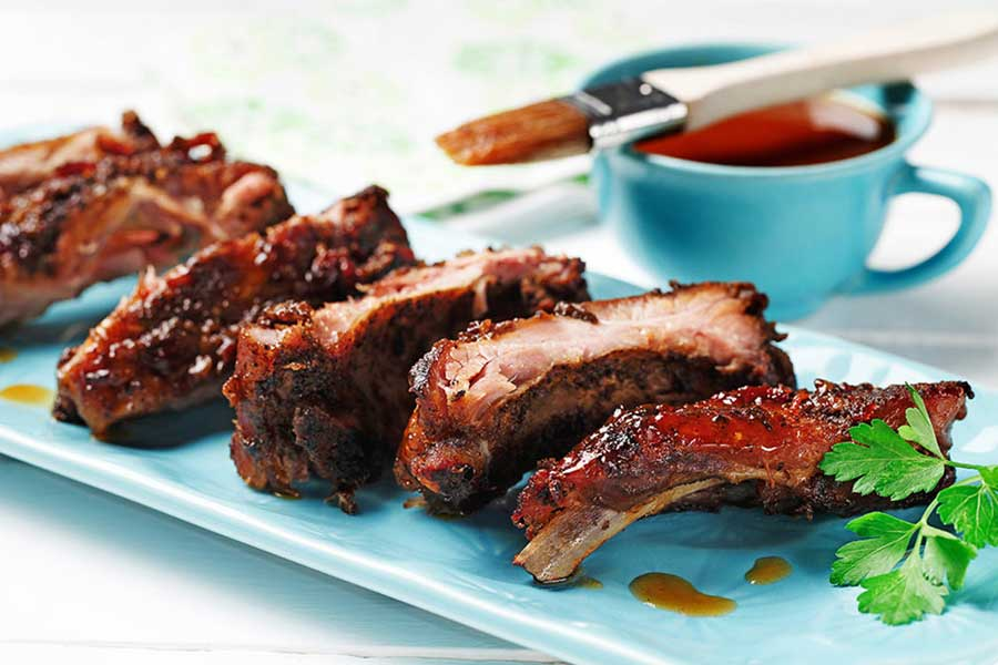 Chipotle and Honey Glazed Ribs made with canola oil