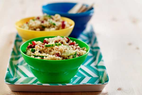 Lemon Cucumber Quinoa salad made with canola oil recipes summer entertaining