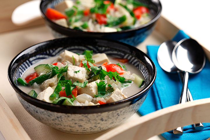 Indonesian Tofu Stew with Spring Vegetables