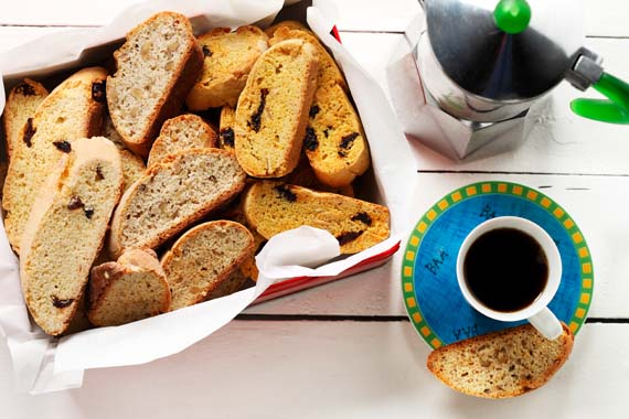Dried Fruit Biscotti recipe made with canola oil
