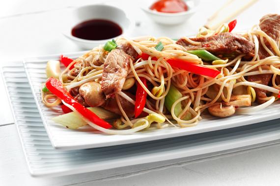 Pork & Pasta Stir-fry