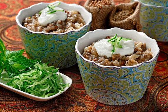 """Lentils of Arabia"" with Rice, Cumin and Caramelized Onions recipe made with canola oil by Raghavan Iyer"