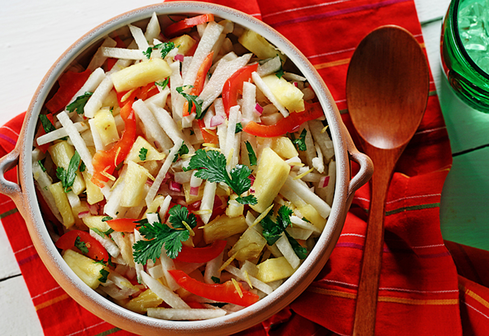 Jicama and Sweet Lemon Salad recipe made with canola oil in partnership with the American Diabetes Association