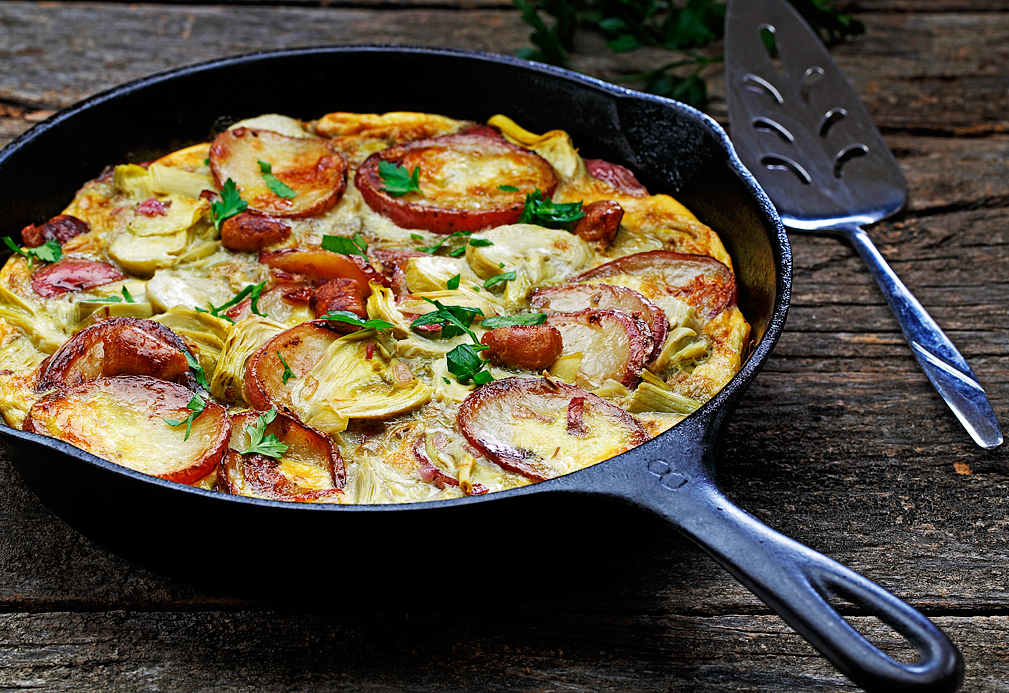 Potato & Chicken Sausage Frittata