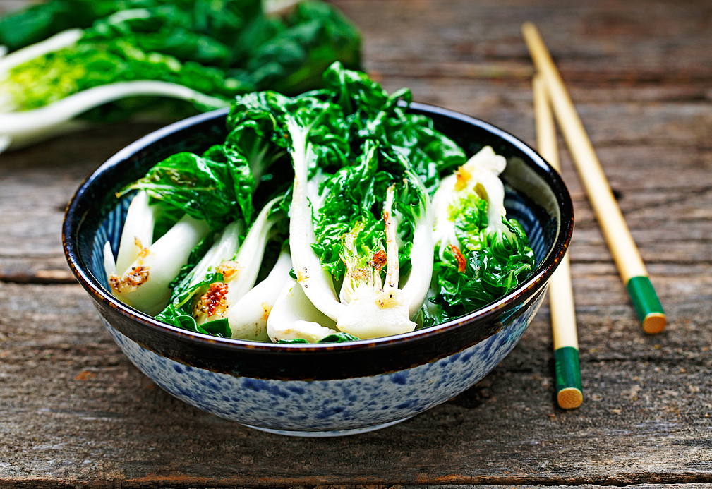 Sauteed Bok Choy recipe made with canola oil