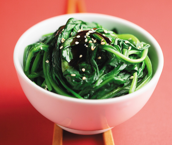 Sauteed Spinach recipe made with canola oil