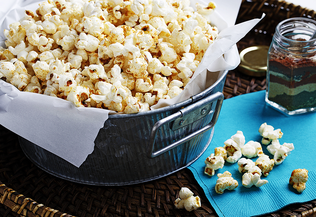 Taco-Flavored Popcorn with Canola Oil