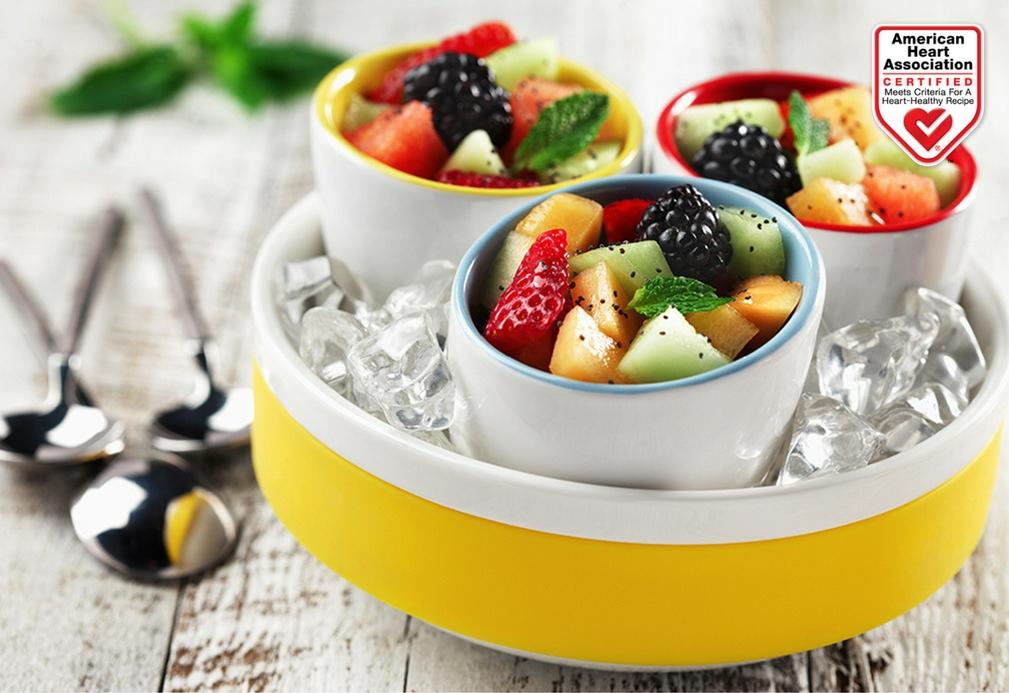 Aderezo cítrico con menta para frutas frescas de temporada