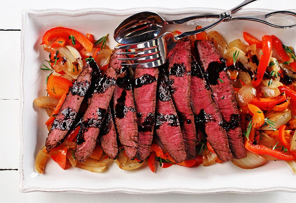 Balsamic and Tequila Glazed Sirloin Steak recipe made with canola oil by Nathan Fong