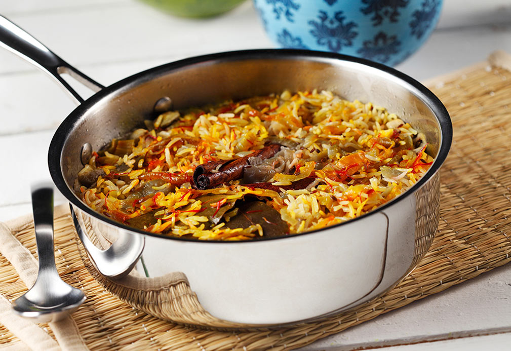 Basmati Rice with Saffron and Whole Spices