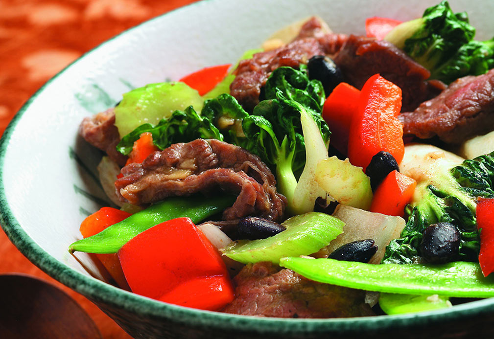 Beef With Black Beans & Vegetables recipe made with canola oil