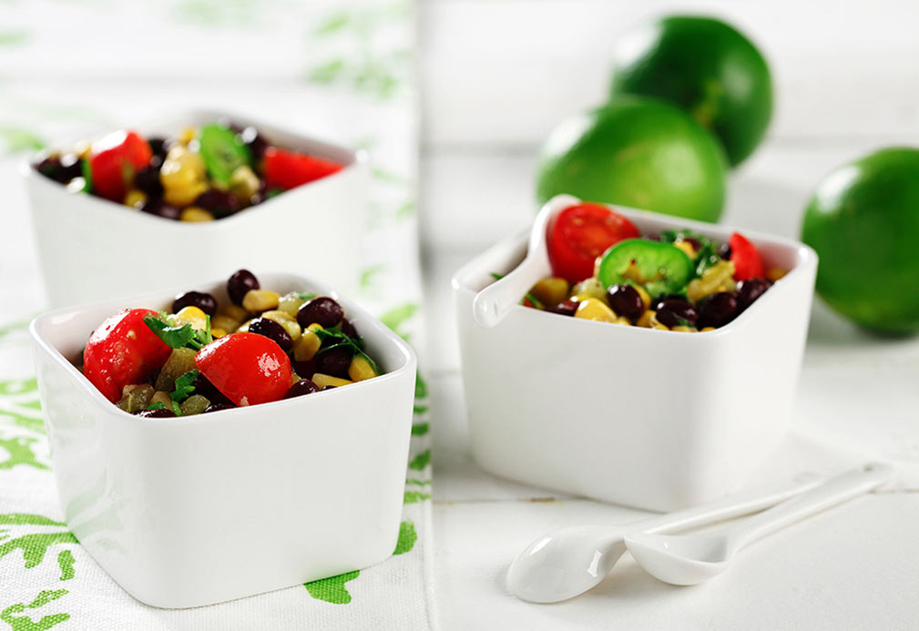 Black Bean and Corn Salad recipe made with canola oil