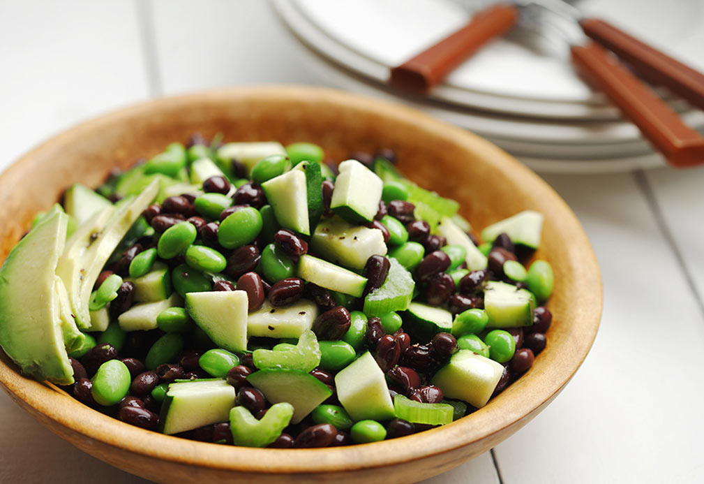 Black Bean and Edamame Avocado Salad