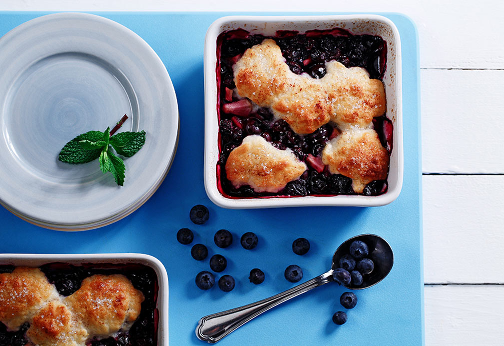 Blueberry Lemon Country Cobbler recipe made with canola oil in partnership with the American Diabetes Association