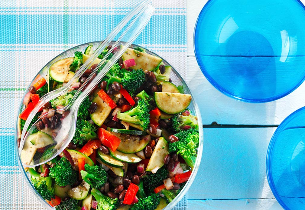 Broccoli Black Bean Salad recipe made with canola oil by Nettie Cronish
