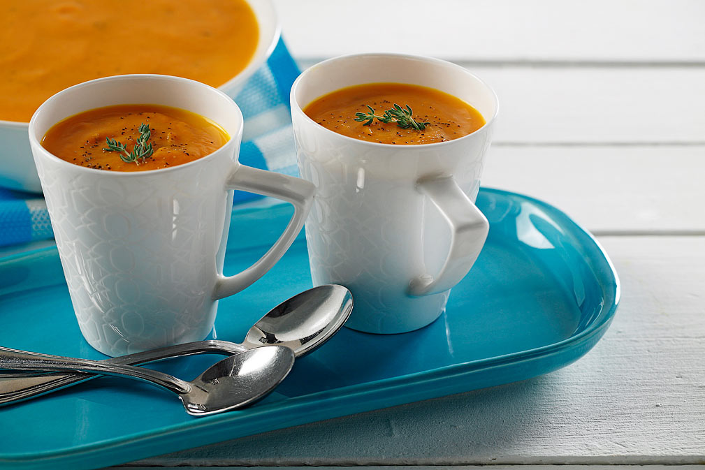 Carrot Soup recipe made with canola oil by Chef Guadalupe García de León