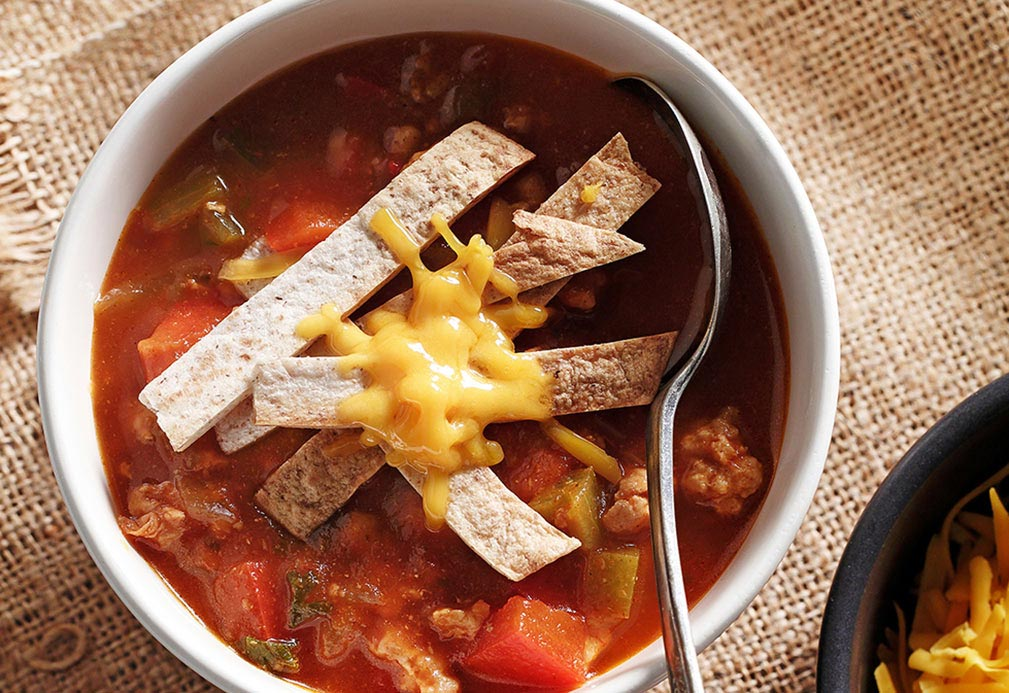 Chicken Enchilada Soup recipe made with canola oil by Emily Richards