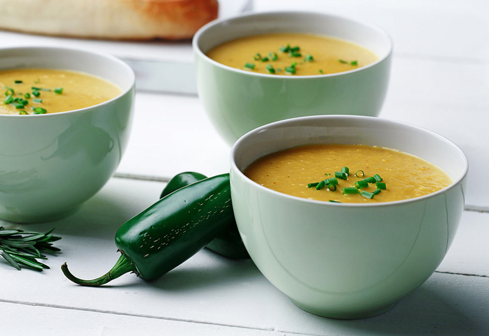 Chilled Roasted Yellow Pepper Soup