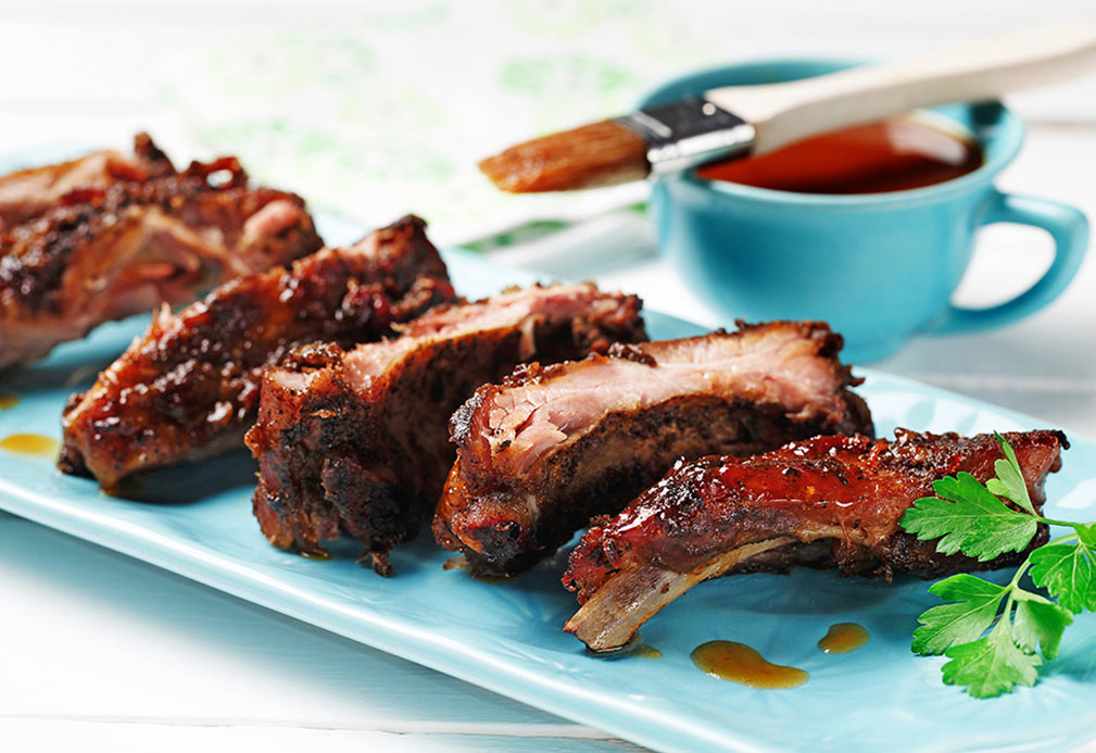 Chipotle and Honey Glazed Ribs recipe made with canola oil by Nathan Fong