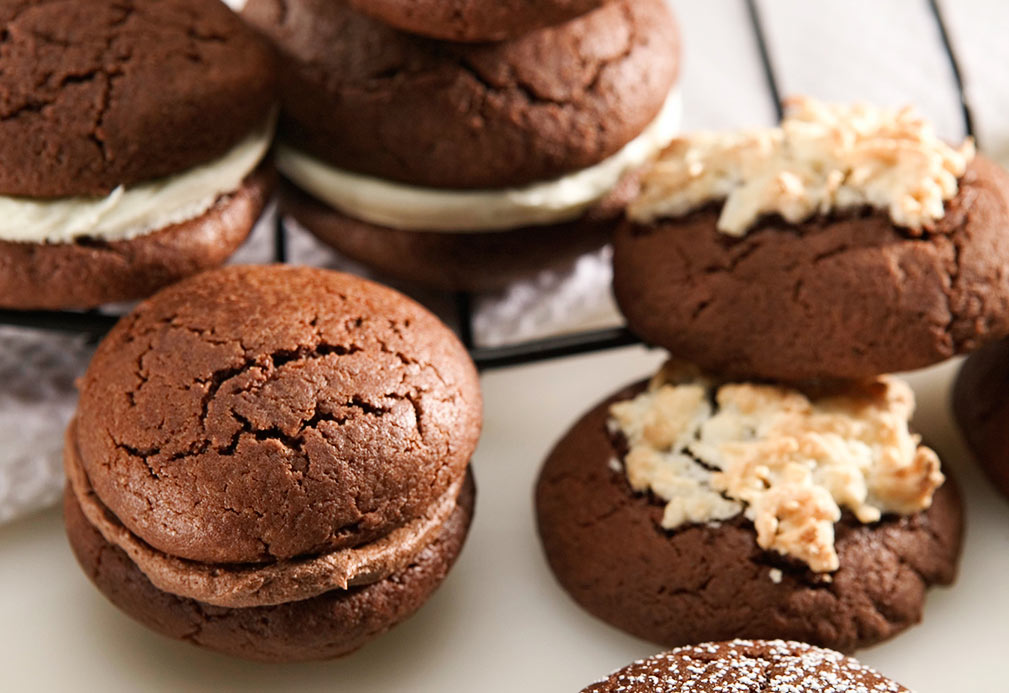 Chocolate Cookie Sandwiches recipe made with canola oil