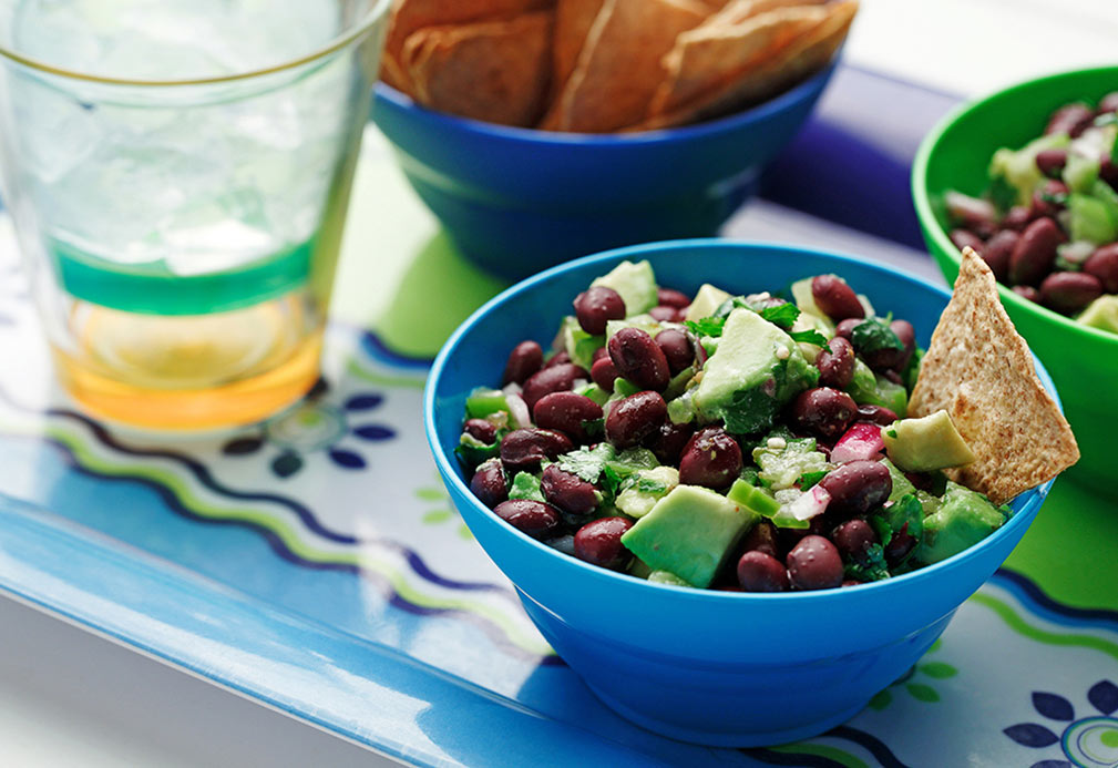 Chunky Avocado Black Bean Salsa recipe made with canola oil by Chef Guadalupe Garcia-de-Leon