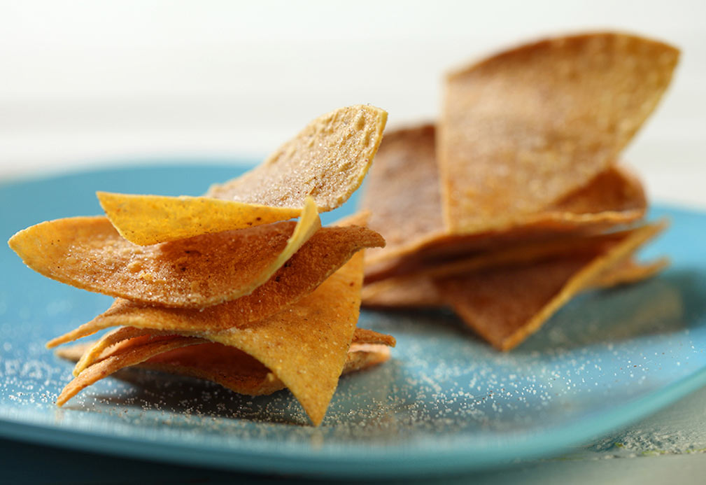 Cinnamon Sugar Tortilla Triangles recipe made with canola oil by Paulette Mitchell