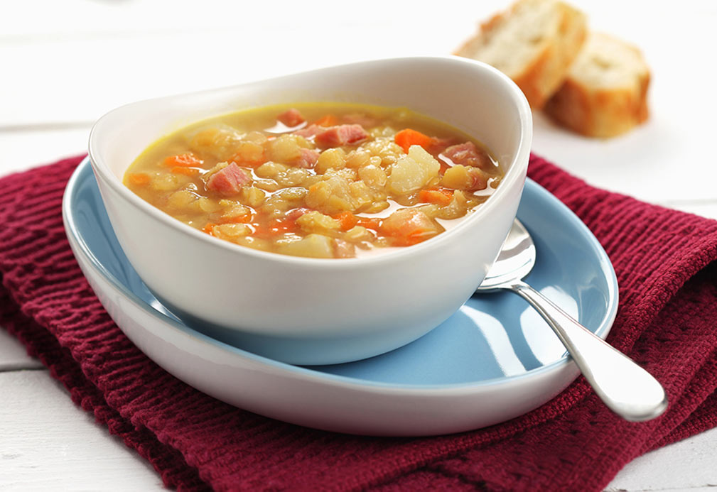Classic Split Pea Soup recipe with canola oil
